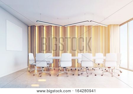 Conference Room, Light Panels And Poster, Toned