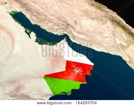 Flag Of Oman From Space