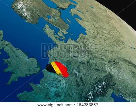 Flag Of Belgium From Space