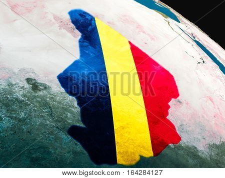 Flag Of Chad From Space
