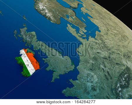 Flag Of Ireland From Space