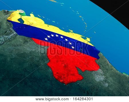Flag Of Venezuela From Space