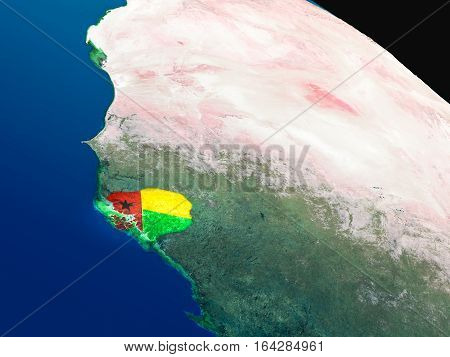 Flag Of Guinea-bissau From Space