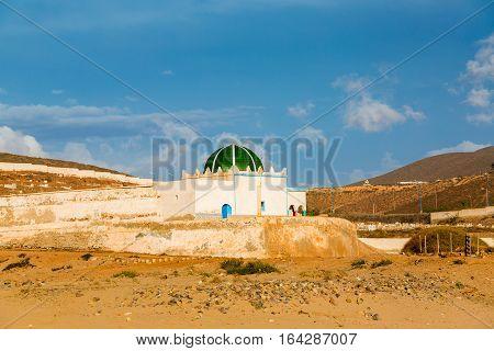 Mosque At Cemetery Of Sidi Ifni, Morocco