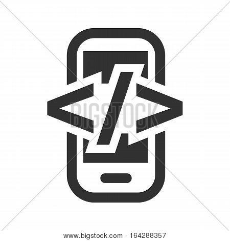 development html flat icon on white background