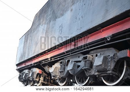 Black Wheels Of An Old Freight Railcar