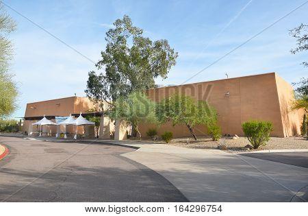 PHOENIX ARIZONA - DECEMBER 9 2016: Pueblo Grande Museum. The prehistoric Hohokam culture created the archaeological structures and items of Pueblo Grande.