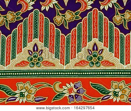 The beautiful of art Malaysian and Indonesian Batik Pattern. Batik industry is a mass production in Malaysia and Indonesia.