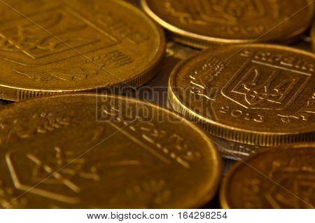 Macro Of Ukrainian Coins