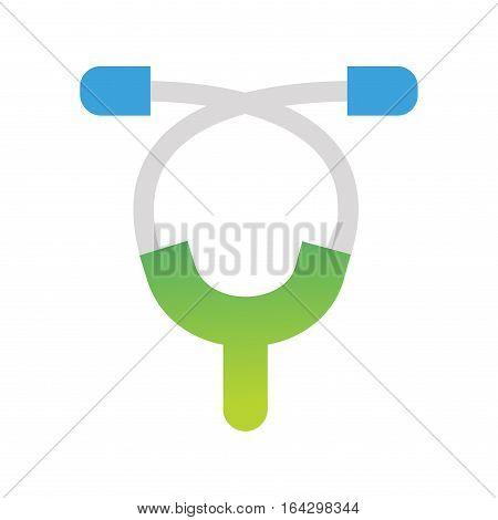 Phonendoscope medical, medicine hospital heartbeat equipment vector illustration. Doctor stethoscope emergency device recovery ambulance tool.