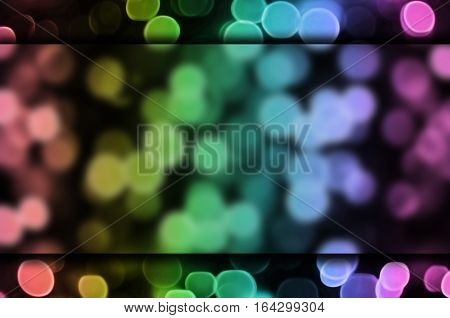 Abstract Background With Bokeh Effect