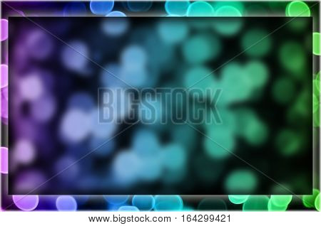 Frame With Abstract Bokeh Background