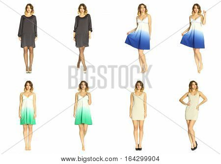 Composite Photo Of Girl In Various Poses
