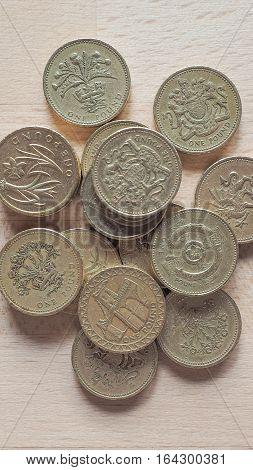 Pound Coins - Vertical