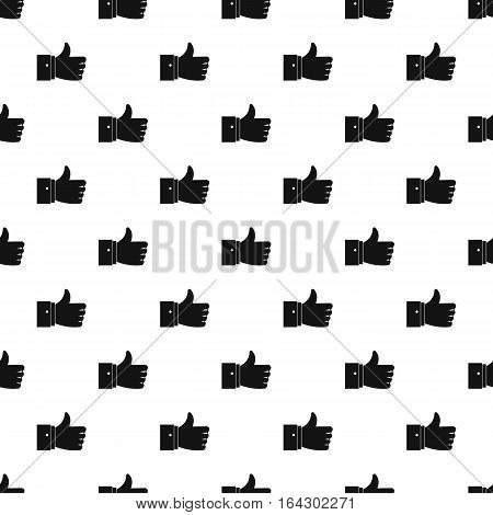 Thumb up pattern. Simple illustration of thumb up vector pattern for web
