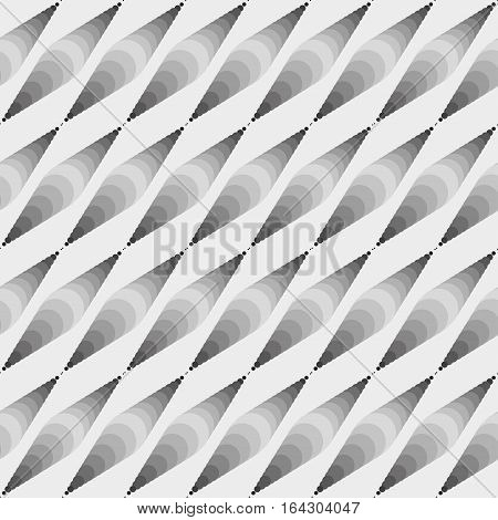 Abstract circled geometric seamless pattern. Vector eps10