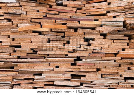 Boards Stacked Pile.