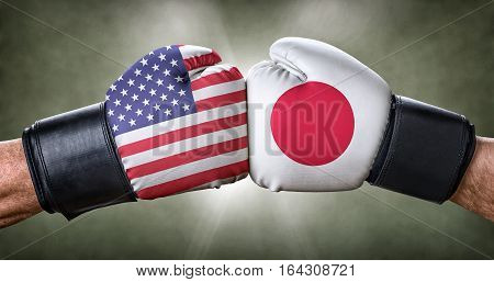 A Boxing Match Between The Usa And Japan