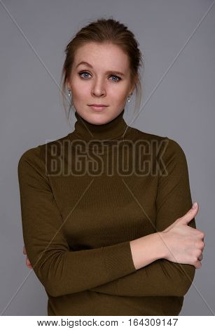 Beautiful Confused Woman With A Raised Eyebrow