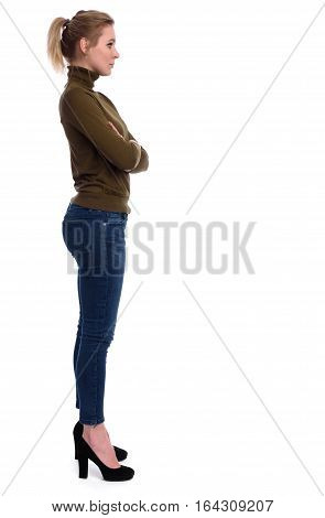 Casual Young Woman Standing