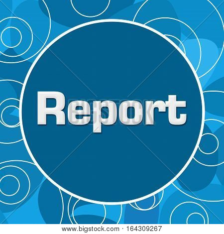 Report text written over abstract blue background.