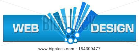 Web design text written over blue abstract background.