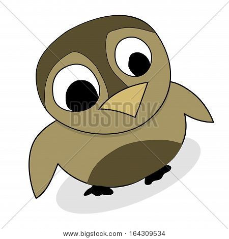 Owlet cute animal vector. Baby owl adorable. chick owl isolated illustration