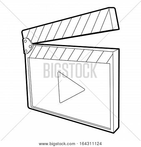 Clapboard icon. Isometric 3d illustration of clapboard vector icon for web