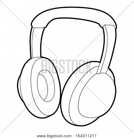 Headphones icon. Isometric 3d illustration of headphones vector icon for web