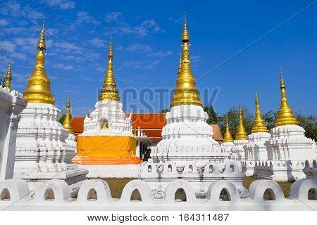 Pagoda of Wat Che Dee Sao Lang Temple in Lampang province, Thailand