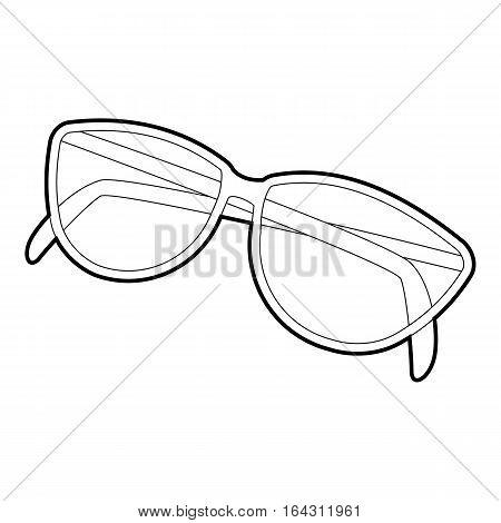 Sunglasses icon. Isometric 3d illustration of sunglasses vector icon for web