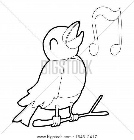 Bird singing icon. Isometric 3d illustration of bird singing vector icon for web