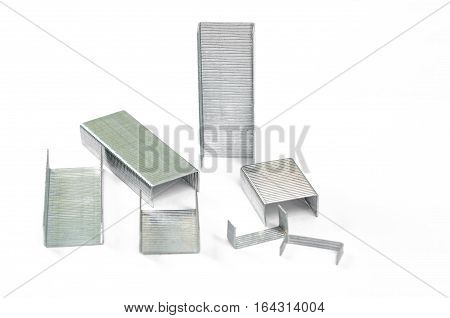 staples isolated against on a white background