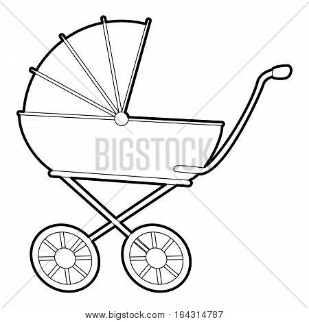 Baby carriage icon. Isometric 3d illustration of baby carriage vector icon for web