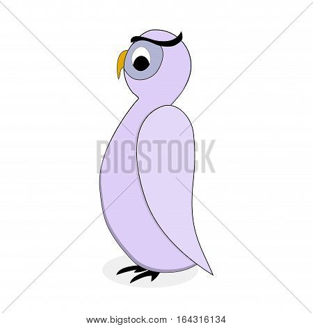 Owl bird character vector. Cartoon owl animal and illustration of drawing owl