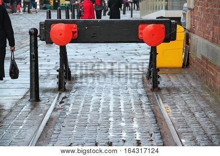 Dead End in Albert Dock, Liverpool, Merseyside