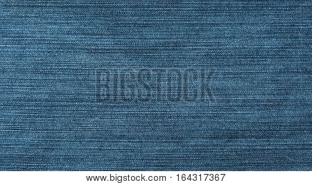 New jeans texture with aging effect. Dark Navy Blue grunge rough denim jeans fabric background. Abstract Wide Wallpaper Horizontal Image With Copy Space