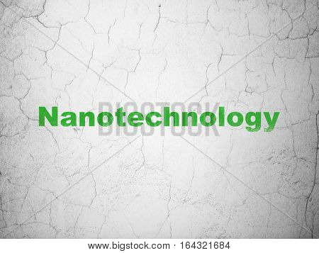 Science concept: Green Nanotechnology on textured concrete wall background