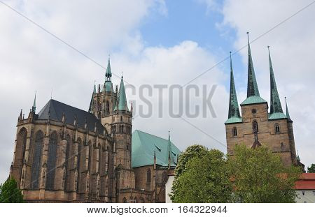 Cathedral And Church Of Saint Severus In Erfurt