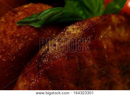 Fried Meat And Breaded Cutlet