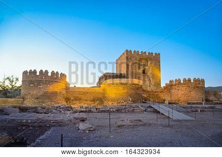Medieval moorish fortress Alcazaba in Almeria Andalusia Spain