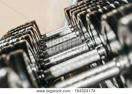 Metallic Or Steel Dumbbells