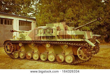 Poland, Poznań -october 1, 2016. Stug Iv - German Self-propelled Gun Of World War Ii.