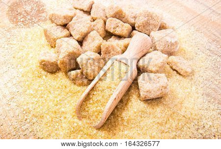 Cubes Of Sugar - Brown Sugar Cane.