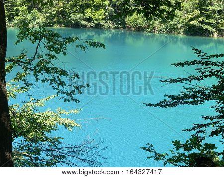 Lower lakes canyon. Plitvice lakes national park Croatia