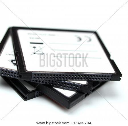 Haufen von generischen flash-Speicherkarten - isoliert auf weißem Hintergrund