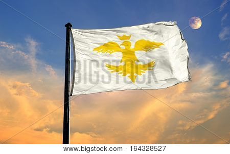 European Hun Empire Flag, European Hun Empire, Flag Design and Presentation
