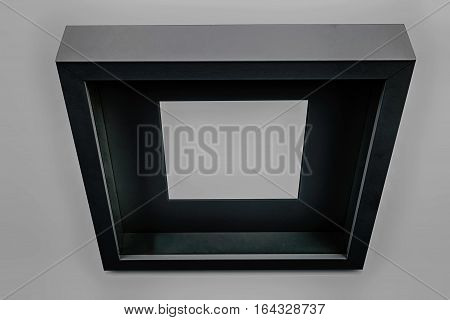 abstract picture frame against grey background, studio shot, high dynamic range picture