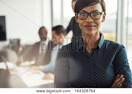 Beautiful Young Professional Woman In Office
