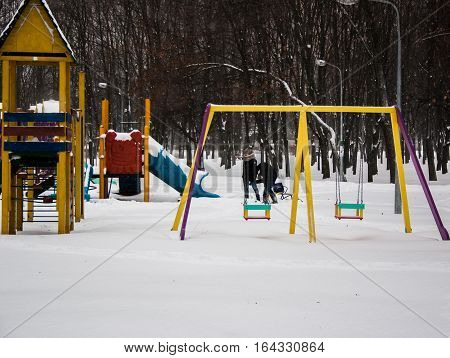 Playground. Ira winter. Children in the park